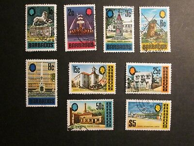 Barbados 1970 Definitives Part set Fine used.