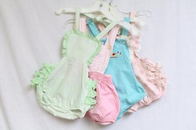Vintage Lot of 4 1950s Baby Rompers Lot 188