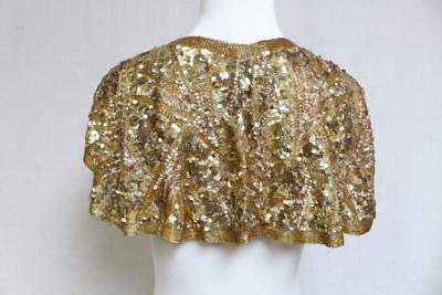 Vintage 1930s Beaded and Sequined Caplet Lot 393