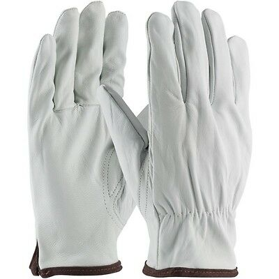 Goat Skin Grain Leather Driver work safety Glove Size Large 1-Pair