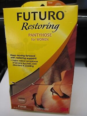 Futuro Restoring Pantyhose for Women Nude Large Firm 20-30 mmHg 71030