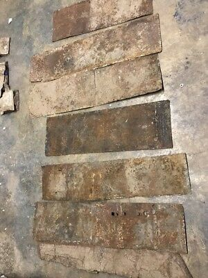 "48"" Antique Tin Ceiling Cornice C. 1890 Architectural Salvage Shabby Chippy BB1"