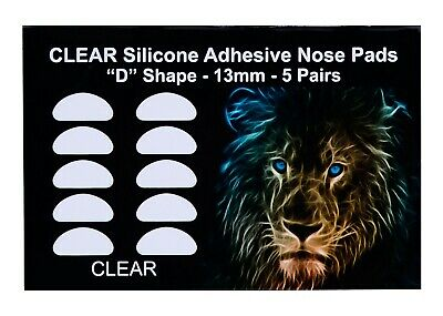 Optical 3M Adhesive Silicone Nose Pads for Eyeglasses - Clear 13mm (5-50 Pairs)