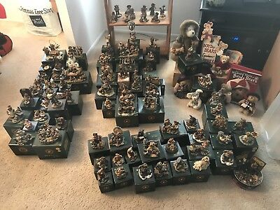 Lot Of 114 Boyd's Bears Resin Bearstones Excellent Condition Boxes Plus Extras