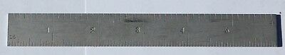 "Starrett 6"" Hardened Steel No. 604R Ruler 8,16,32,64 Graduations Usa"