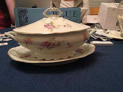 W.H. Grindley & Co. England Gravy Serving Platter And Bowl 1912-1925