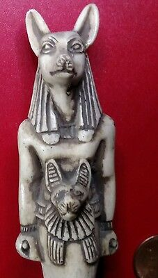 Amazing Statue, Anubis Proctor of Tombs,  Natural Carved Stone, 145 mm,