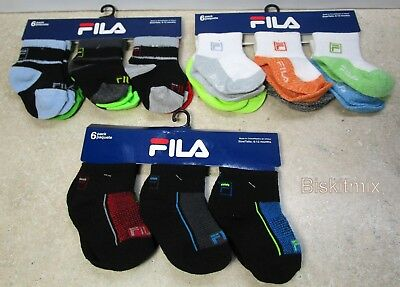 18 Pairs of FILA Boys,Girls, Multicolor  Socks. For, Baby, Toddler 6-12 Months