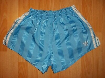 vintage ADIDAS blue nylon running sport shorts size D7 Made in West Germany