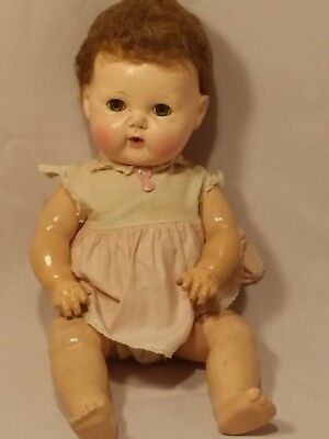 """50's American Character Tiny Tears Doll 15"""""""