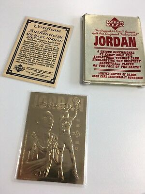 Michael Jordan 23KT Gold Foil Upper Deck trading card