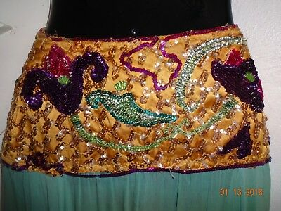 True Vintage 1930's Burlesque Skirt Highly beaded Very RARE!