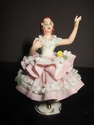Dresden Germany Lacy Lace BALLERINA Figurine Lovely