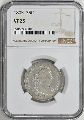 1805 NGC VF25 Well struck and beautiful! PQ for the grade!