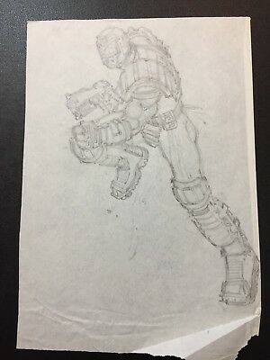 Judge Dredd Lawman of the Future Mick Austin 2000ad original comic artwork art