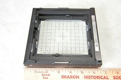 Sinar 4x5 ground glass with back but no mounting frame