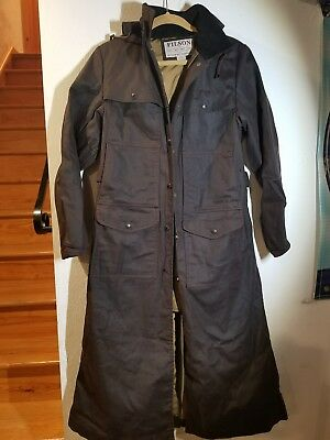 Filson Waxed Duster Full Length Coat Mahogany Women/'s XS NWT MSRP $650