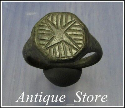 Ancient Bronze LEGIONARY Roman Ring ** LEGIO X EQUESTRIS **