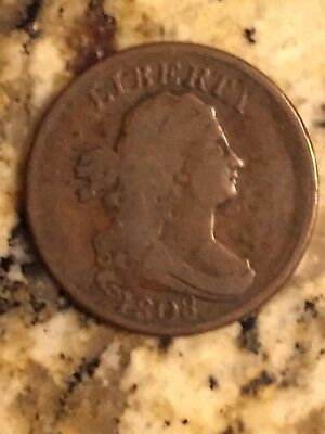 1808 Liberty Draped Bust Half Cent