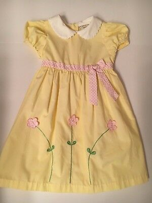 Vintage Baby togs yellow toddler dress size 4T