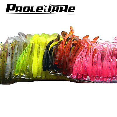 10 Pcs/pack 0.7g 5cm for Fishing Worm Swimbait Jig Head Soft Lure Fly Fishing