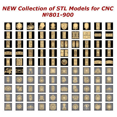 №801-900 of 1100 - NEW Collection of STL Models for CNC Artcam Aspire