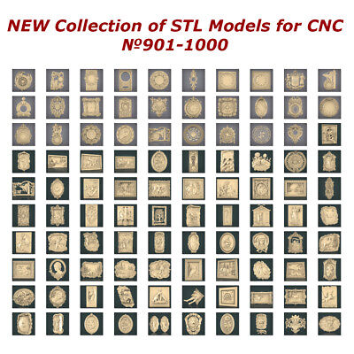 №901-1000 of 1100 - NEW Collection of STL Models for CNC Artcam Aspire