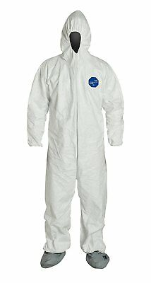 DuPont Tyvek 400 TY122S  Protective Coverall, Disposable, Elastic Cuff, Elastic