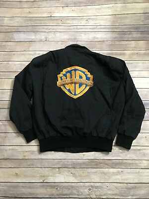 Vintage Warner Brothers Studio cast Made in USA Crew Jacket size Large Stitched
