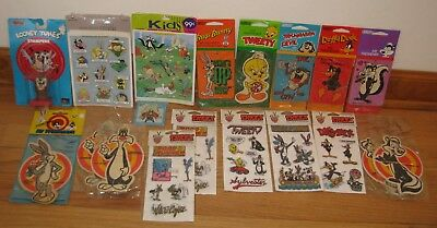 Looney Tunes - LOT OF 19 Items - Stickers, AIr Fresheners ++ New!