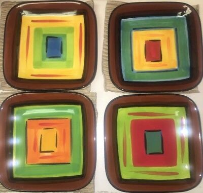 Southern Living At Home Gail Pittman BRIO - Set of 4 Appetizer Plates  NEW!!