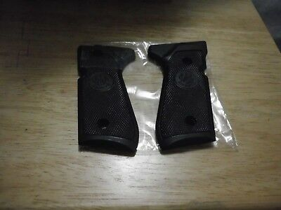 Beretta Factory Black Plastic Checkered Grips 92Fs