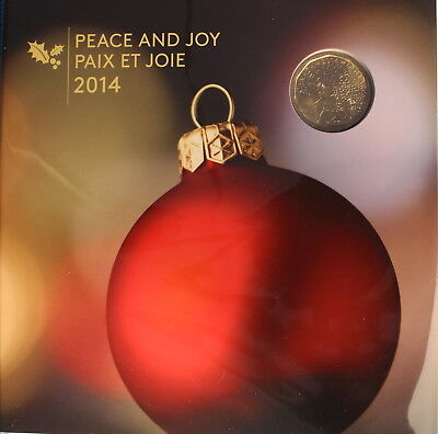 Canada 2014 - Holiday Gift Set - Special Christmas Montage Loonie ($1) 5