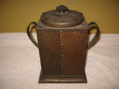 Beautiful Unsigned Antique Arts And Crafts Copper Bronze Box Humidor Tobacco