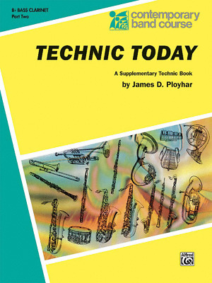 """Contemporary Band Course-Technic Today """"Bass Clarinet"""" Music Book 2-On Sale-New"""