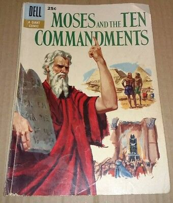 Dell Giant Moses And The Ten Commandments No 1 1957