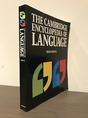 The Cambridge Encyclopedia of the English Language David Crystal Classic 1st Ed