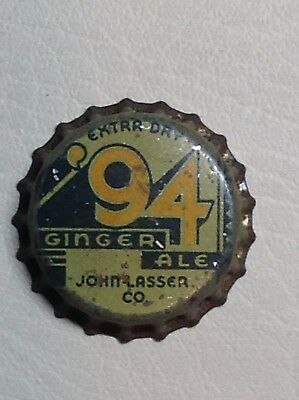 New 94 GINGER ALE John Lasser Co Unused Cork Bottle Cap
