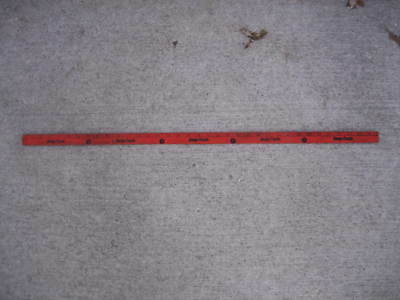 Vintage Dodge Trucks Yardstick Rule Sign Mopar Chrysler 2-Sided