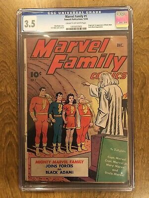 Marvel Family #1 CGC 3.5 Fawcett - 1st Appearance Black Adam
