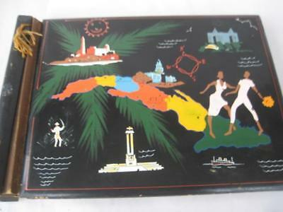 Vintage 1950's Photo Album (No Pictures) From Cuba 15 X 11 inches