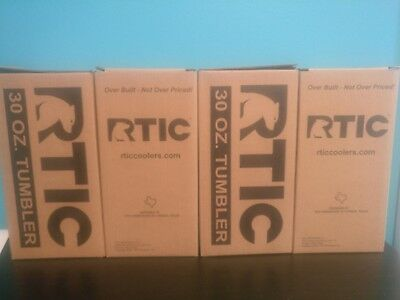 RTIC 191 Double Wall Vacuum Insulated Tumbler 30 oz Stainless Steel Lot of 4