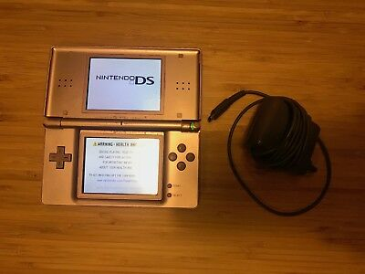 Nintendo DS Lite - Metallic Rose - with charger, broken hinge, TESTED