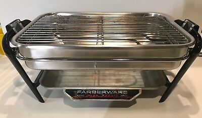 Farberware Electric Open Hearth 455N Indoor Grill Broiler Only Works Great Clean