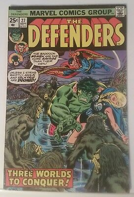 The Defenders # 27 - Marvel Comics - September 1975