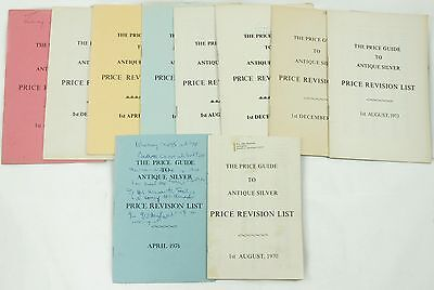 Vintage 1970-1974 Price Guide to Antique Silver Price Revision List Auction Lot