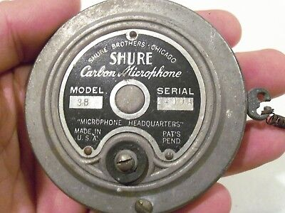 VINTAGE ANTIQUE 1920's-1930's SHURE BROTHERS CARBON SPRING MICROPHONE MODEL 3B