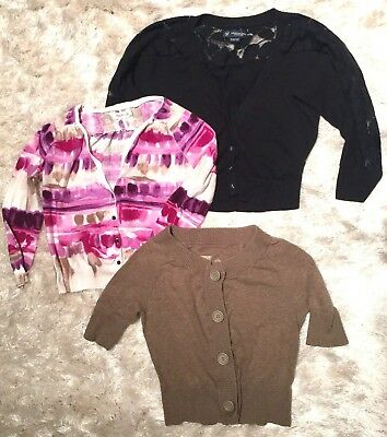 Lot of 3 Cropped Cardigan Sweaters - XS/M