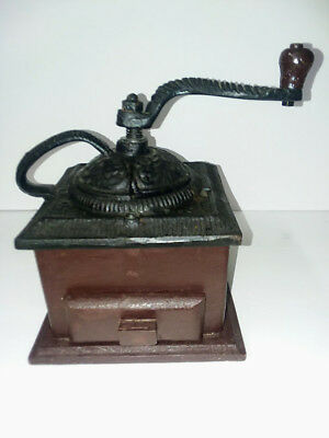 Old Fashion Cast Iron and Wood Hand Coffee Grinder