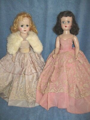 2 Vintage Doll Sweet Sue Walker Nancy Ann Style 18In Hard Plastic Pretty Lqqk!!